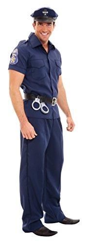 Karneval-Klamotten Polizei Polizist Kostüm Herren Uniform Erwachsene Polizistenkostüm Herrenkostüm Fasching Größe 52/54