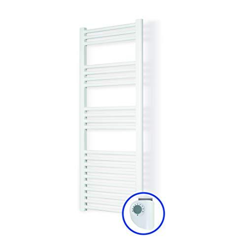Radiador Toallero Eléctrico PARIS * Toalleros Eléctricos (Medidas 1200 x 500 mm) 750 Watios * Secatoallas En Color Blanco * 2 AÑOS de Garantía