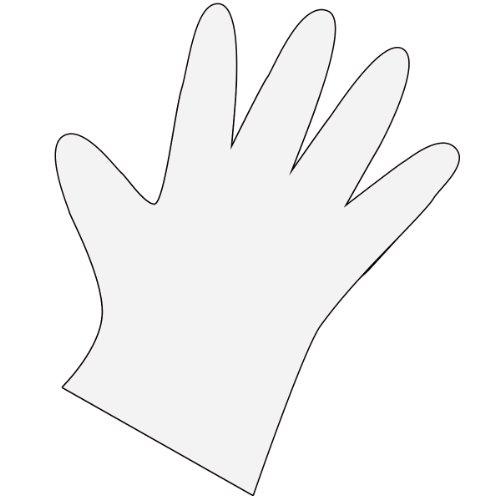 Fripac-Medis Einmal-Handschuhe, Beutel mit 100 Stück, Herrengröße, geprägt