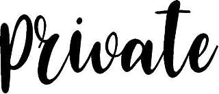 CreativeSignsnDesigns Door Vinyl Decal - Pantry, Restroom, Closet Water, Closet, Laundry, Office, toilettes, Bathroom, Vin...