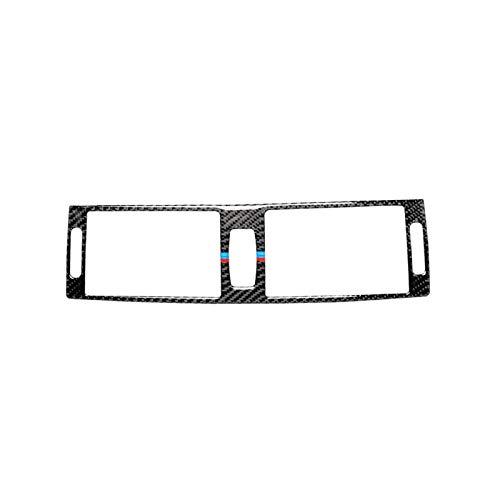 OutdoorKing Maniglia della Porta in Fibra di Carbonio Interruttore del Faro Luce di Lettura Decorazione Volante Copertura Trim per BMW X5 E70 X6 E71 2008-2013 (Color : Center Air Outlet)