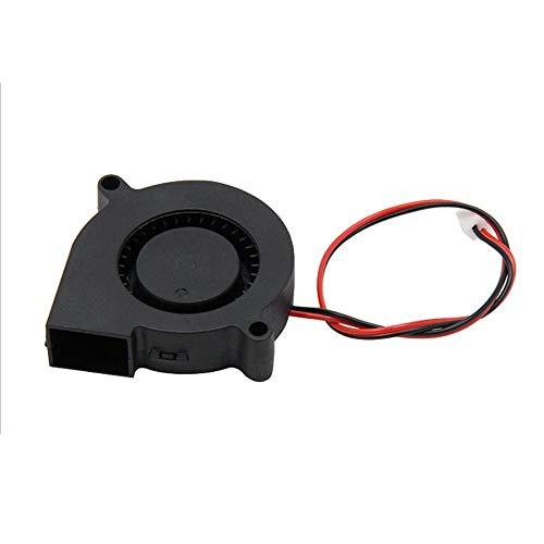 WANGZHI 3 Pcs DC 12V 3D Printer Cooling Fan Blower Fan for Cooling Heatsinks 3D Printer(50 X 50 X 15mm Black)
