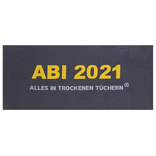 Egeria Duschtuch Abi 2021 Größe 75x180 cm Farbe dunkelgrau Handtuch Frottier Baumwolle