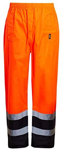 shelikes Mens Waterproof Rain Hi Vis Safety Over Trouser Work High Viz Visibility Pants (X-Large,...