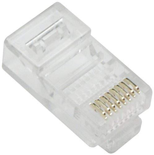 Metronic 495281 - Lote de 10 Conectores RJ45 Macho, Color Blanco