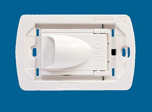 AERTECNICA serie New Air PA251 Presa aspirante bianco completa di supporto Bticino Living Light