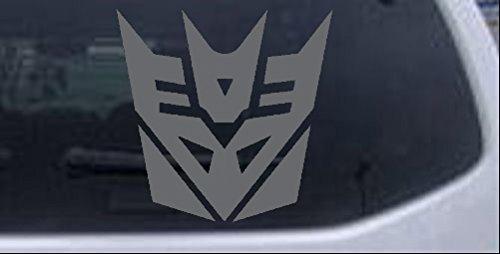 Rad Dezigns Transformers Decepticon Symbol Logo Sci Fi Car or Truck Window Laptop Decal Sticker - Silver 4in X 4in