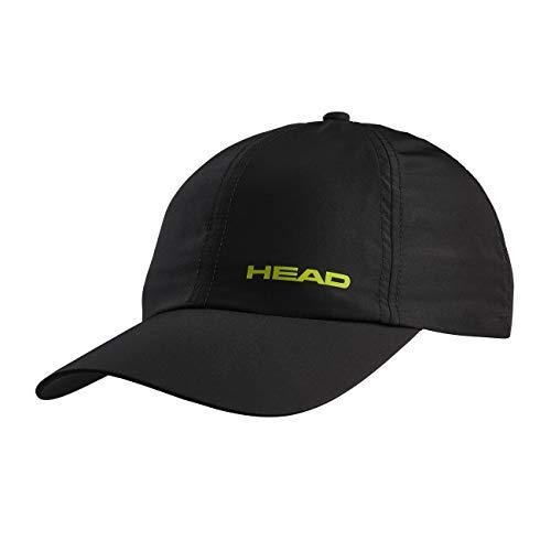 HEAD Light Function cap Tonal, Accessori Tennis Unisex Bambino, Nero/Giallo, Taglia unica