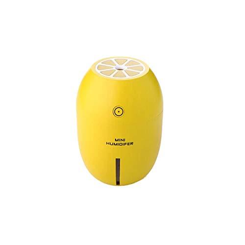 ZZYJYALG Humidificador de aire Plástico Capacidad grande Ultrasónica Mini Limón LED humidificador Difusor de aire Difusor Purificador Aceite Esencial Ambientador Evaporador Oficina Dormitorio Home Sal