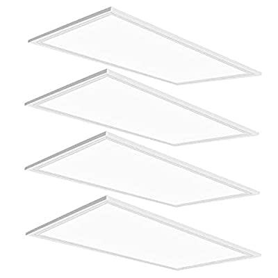 LED Panel Light,2x4 FT,4 Pack,ETL Listed,0-10V Dimmable,7800 Lumens,5000K Daylight White Color, Drop Ceiling Flat LED Light Panel,Recessed Edge-Lit Troffer Fixture