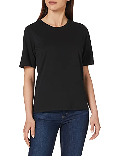 Only ONLONLY Life S/S Top JRS Camiseta, Negro, L para Mujer