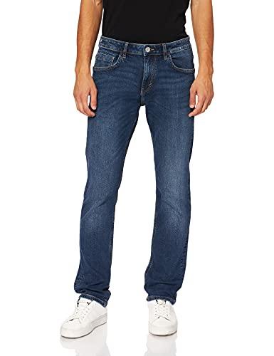 TOM TAILOR 1027229 Josh Regular Slim Jeans, 10281-Mid Stone Wash Denim, 32W x 34L Uomo