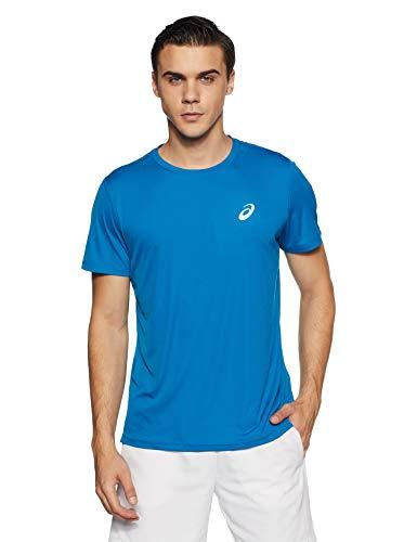 ASICS Unisex Silver Ss Top T-Shirt, Race Blue, XL