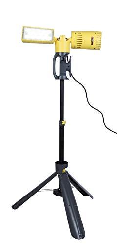 LUTEC Stativ LED-Arbeitsleuchte Peri, super hell, zwei ausrichtbare Köpfe, für den Innen- und Außenbereich, 2.5m langes Kabel