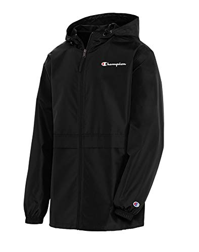 Champion Men's Full Zip Jacket, Black, X Large