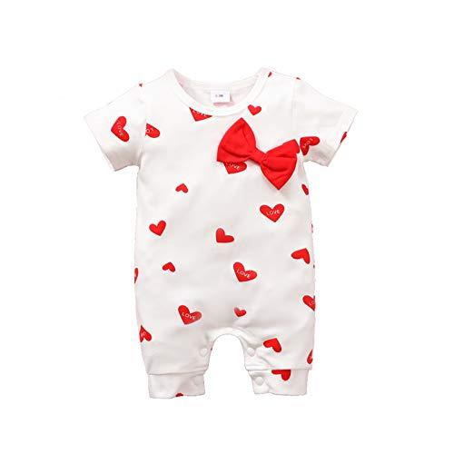 Moent Mameluco y mono para niñas, recién nacido, bebé, niña, corazón, con lazo, ropa para el día de San Valentín, ropa para niño y niña