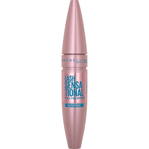 Maybelline New York, Máscara de Pestañas Volumen Waterproof, Lash Sensational, Negro, 9,5 ml