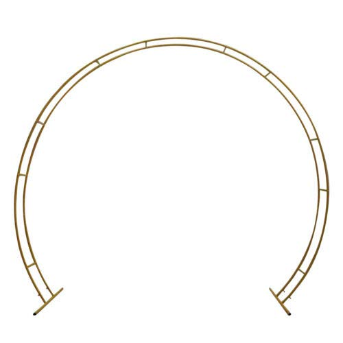 Enorme kit de arco de metal desmontable con base estable, fácil de transportar y reutilizable, decoración para bodas, recepciones, fotografías, fiestas y eventos