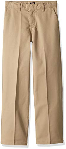 Dickies Boy's Big Flex Waist Flat Front Pants, Desert Sand, 20 Husky