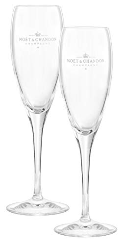 Moët & Chandon Impérial Champagner Flöten Gläser Flutes 0,2l Set Glas Klar (2 Stück)