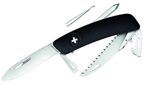 SWIZA Messer D06, schwarz Säge Schweizer Messer