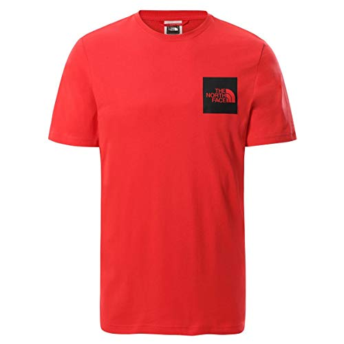 The North Face Men's S/S FINE Tee T-Shirt, H. Red, S Uomo