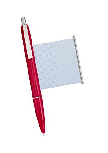 Kugelschreiber mit Spickzettel rot - Made in Germany