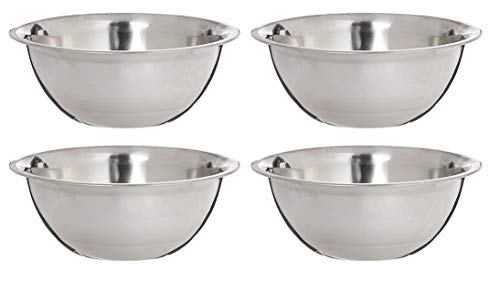 3 Quart Stainless Mixing Bowl, Comes In Each (Four Pack)
