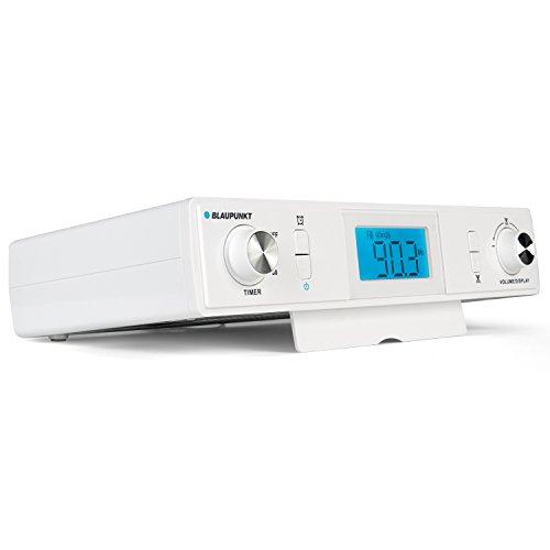 Blaupunkt KR 10 Küchenradio Unterbau mit UKW/FM PLL Empfang, Unterbauradio mit Back-Timer, Koch-Timer, Radio Küche mit Eier-Uhr, LCD-Display, digitale Uhr und Stereo-Lautsprecher, inkl.Montagematerial
