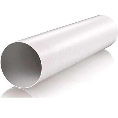 VONLIS - Tubo rotondo in plastica, 1 m, per cucina, PVC, bianco, Ø 150 mm