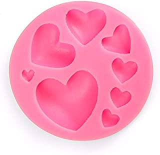 UG LAND INDIA Silicone Mold Tray 8-Cavity Different Sizes Love Heart Shape Suitable for Fondant, Gum Paste, and Chocolate...