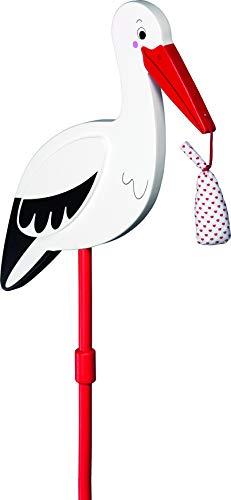 Goki 63890 - Blumenstecker Storch mit Babytuch, XL