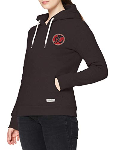 Superdry Rising Sun Hood Sudadera con Capucha, Carbon Black, 18 para Mujer