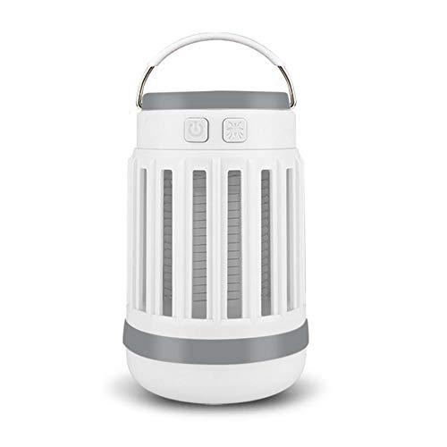 Rubyu Lámpara antimosquitos con energía solar, recargable, USB, lámpara eléctrica para mosquitos, portátil, para dormitorio, cocina, oficina, uso doméstico, exterior e interior