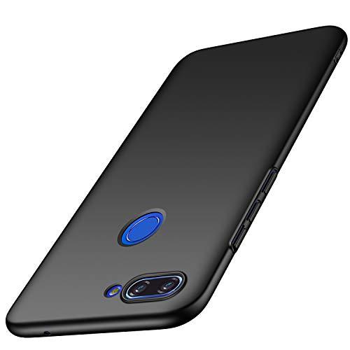 AOBOK Xiaomi Mi 8 Lite Hülle, Ultra Slim Leichtgewicht Matt Schale HardHülle, Anti-Fingerabdruck, Anti-Scratch Schutzhülle, Stoßfest Bumper Cover HandyHülle für Xiaomi Mi 8 Lite Smartphone, Schwar