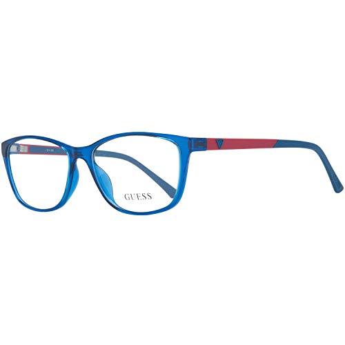 Guess Brille Gu2497 090 55 Montature, Blu (Blau), 55.0 Donna