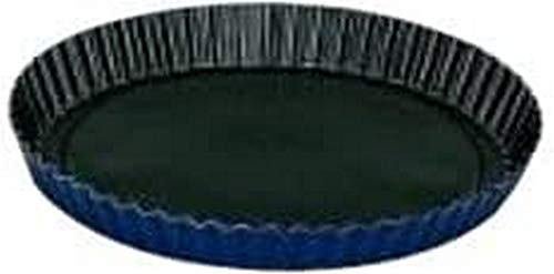 Ibili 331328 Moule à tarte dentelé Blu avec fond amovible Blu 28cm Aluminium