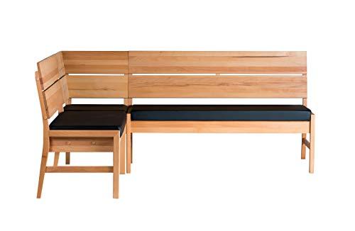Amazon Marke -Alkove - Hayes - Massivholzeckbank mit gepolsterter Sitzfläche, Kernbuche