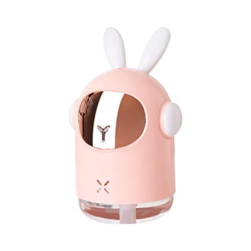 WENDUPPV Mini Humidificador Portátil, Humidificador De Aire Silencioso con Luz Cálida De Noche, Apagado Automático Sin Agua, Modo De Niebla Ajustable, Usado En Habitaciones, Oficinas, Automóviles
