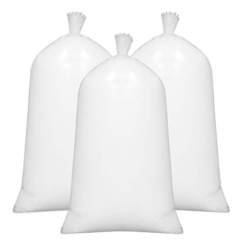 ZOLLNER 3X 1kg Füllmaterial, 100prozent silikonisierte Polyesterhohlfasern, weiß