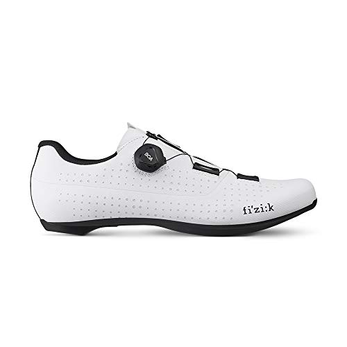 Fizik Tempo Overcurve R4 - Zapatillas De Ciclismo Unisex Para Adultos, Blanco/Negro, Talla 40