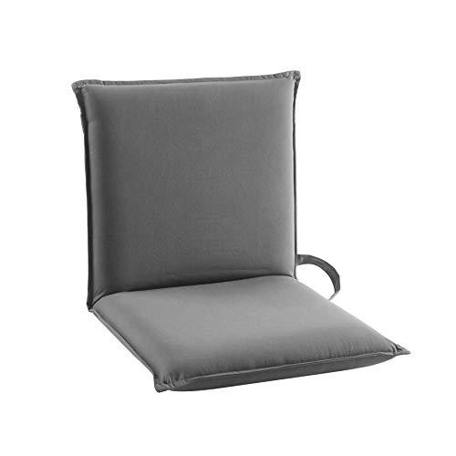 Urban Shop Adjustable Gaming Lounge Floor Chair, Fabric, Grey