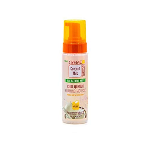 Creme of nature coconut milk curl quench foaming mousse 207g