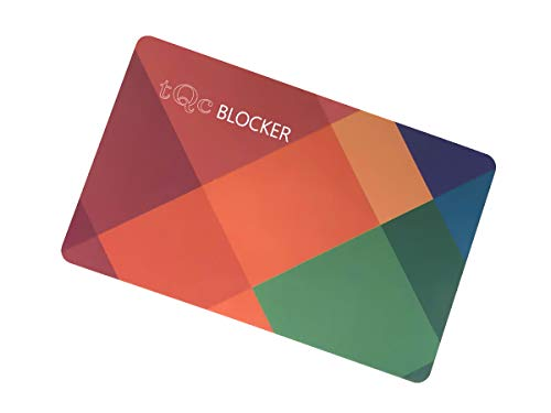 NFC RFID Blocker Karte Ultradünn | Schutzkarte | RFID schutzhülle kreditkarten Alternative | 0.9mm dünn Kartenschutz | RFID störsender | 1 RFID Störsender für Ihre Brieftasche | E-Field Technologie