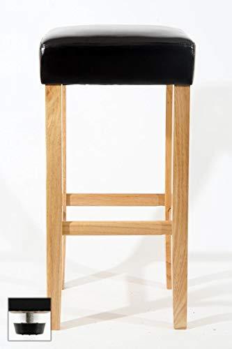 Edler Holzbarhocker Barhocker Holz braun Holzgestell Natur verstellbare Bodengleiter