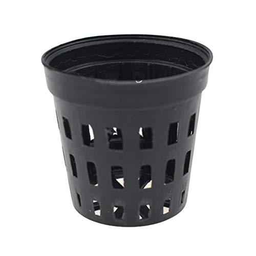 10 Teile/los Schwarz Kunststoff Aquarium Wasser Pflanze Gras Anbau Pflanztopf Körbe