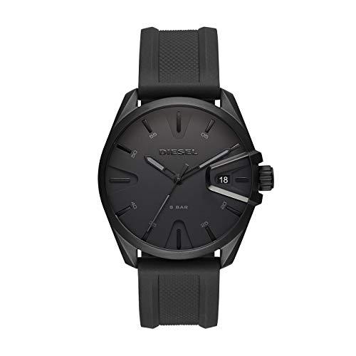 Diesel Herren Analog Quarz Uhr mit Silikon Armband DZ1892