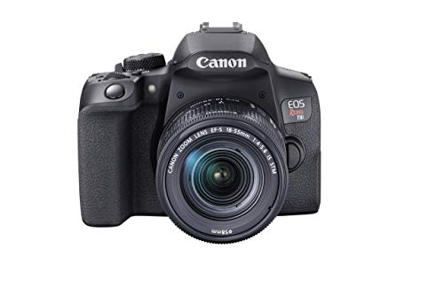 Canon EOS Rebel T8i EF-S 18-55mm is STM Lens Kit, Black (Renewed)