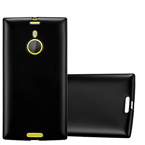 Cadorabo Funda para Nokia Lumia 1520 en Metallic Negro - Cubierta Proteccíon...