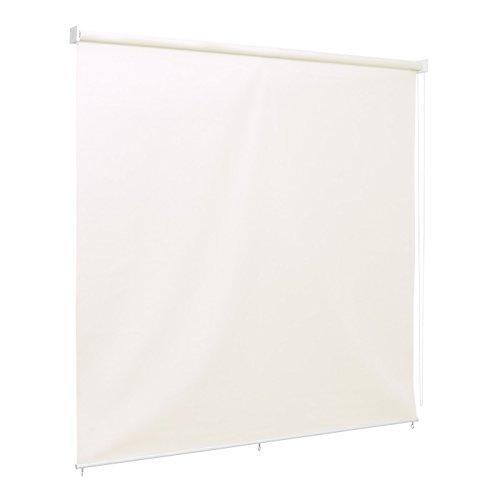 Ventanara Rolgordijn, verticaal zonnescherm, balkonrolgordijn, inkijkbescherming, schaduw 210 x 230 cm crème